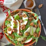 An incredibly fresh, flavourful & yet simple Pear Walnut Salad which brings together vibrant sweet & savoury flavours with wonderful textures & colours.