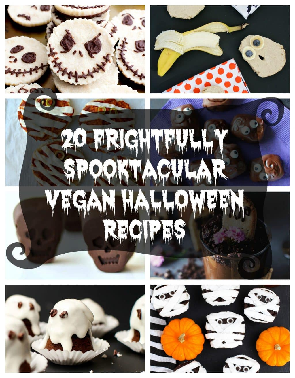 Make this Halloween one to remember with 20 Frightfully Spooktacular Vegan Halloween Recipes! You will find everything from cute to downright disgusting!