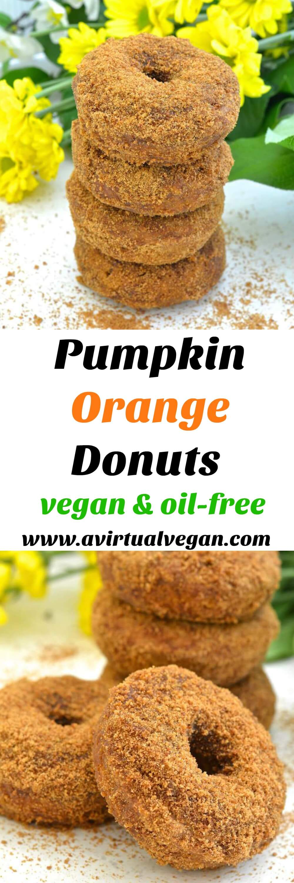 Moist, soft & fluffy, oil-free Pumpkin Orange Donuts. Baked to perfection then rolled in sugar. So easy to make & no mixer required! All you need is a spoon & a bowl. No donut pan? Don't worry, I've got you covered, but just so's you know....everything tastes better in donut shape! ;O)