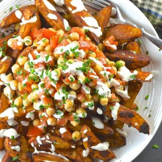 Loaded Taco Fries with Lime Crema