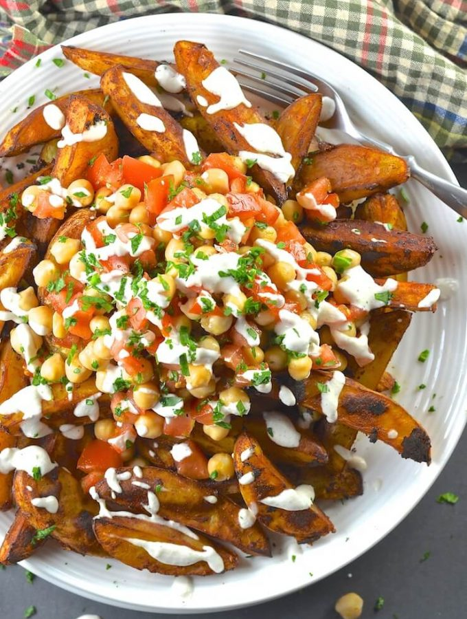 What's not to love about an obscenely large pile of Loaded Taco Fries with a generous drizzle of Lime Crema? Especially when they are healthy, oil-free & 'bury your face in them' delicious......
