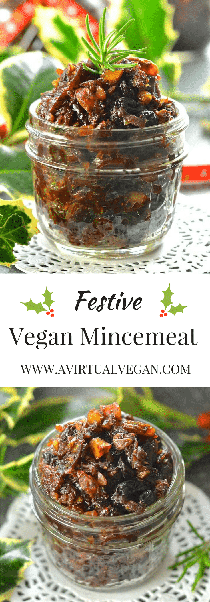 Festive, rich & fruity Vegan Mincemeat steeped in boozy deliciousness!