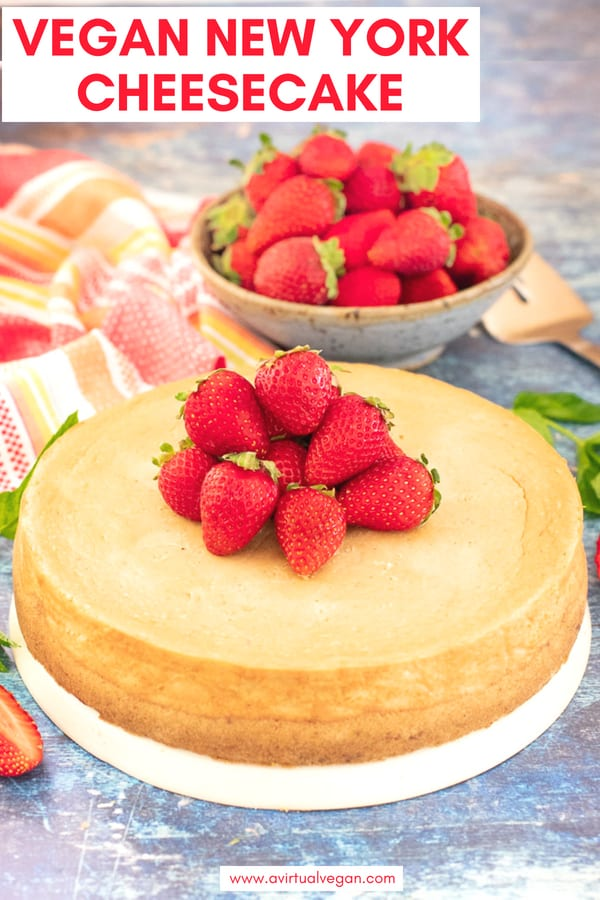 This ultra-rich, decadently creamy and smooth Vegan New York Cheesecake is surprisingly quick and easy to make. Enjoy as it is or get a little fancy with your choice of topping.  It is dessert perfection and you absolutely need it in your life..... #cheesecake #vegancheesecake #newyorkcheese #vegandessert