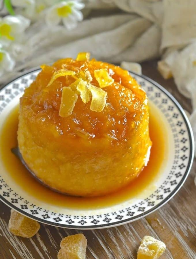 Easy Maple Ginger Steamed Pudding