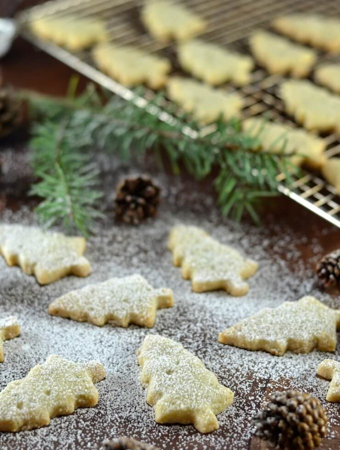 Pine Needle Shortbread Cookies