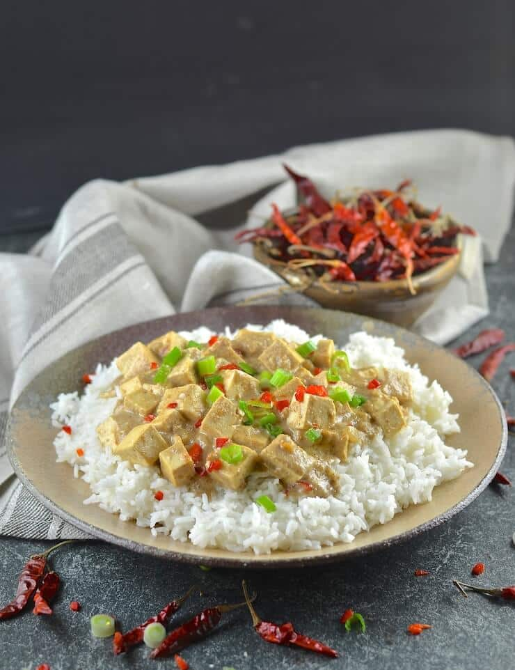 Tender tofu in a rich, smooth and creamy satay sauce. This Tofu Satay is super easy to prepare & tastes totally delicious!