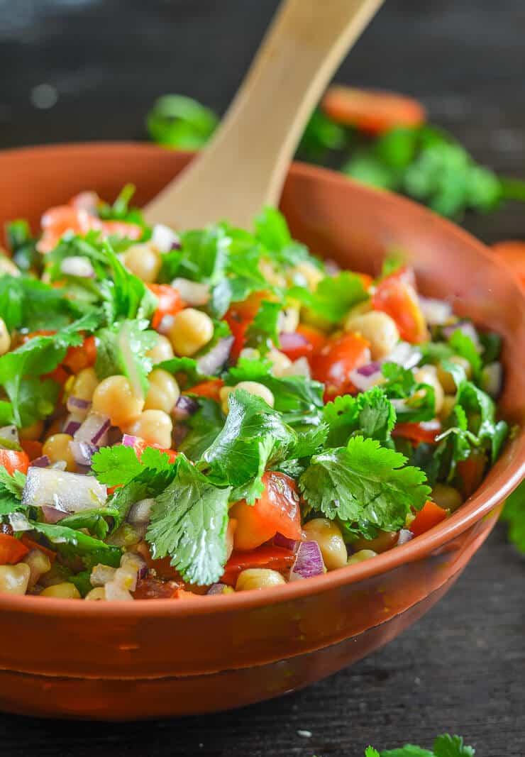 Tomato Chickpea Salad With Cilantro Amp Lime Dan330