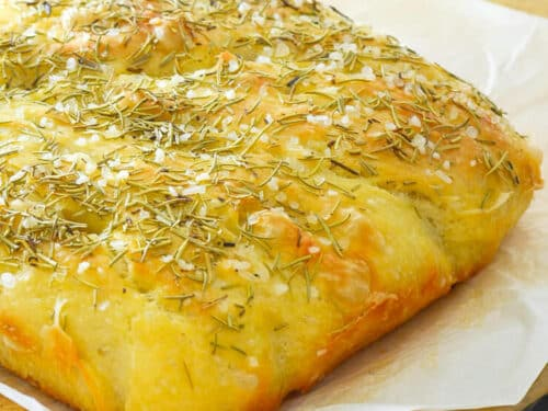 No Knead Focaccia A Virtual Vegan