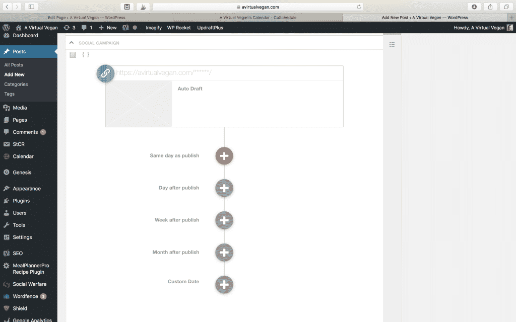 CoSchedule in WordPress dashboard screenshot