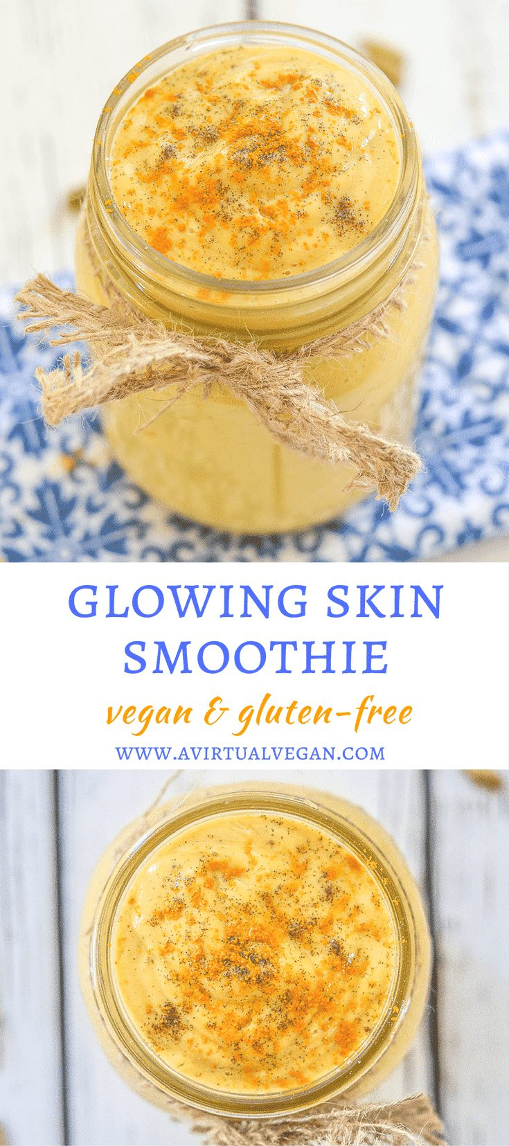 Start your day with this nourishing Glowing Skin Smoothie. It is packed with antioxidants & will leave you looking & feeling radiant both inside & out!