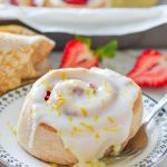 sticky lemon strawberry sweet rolls