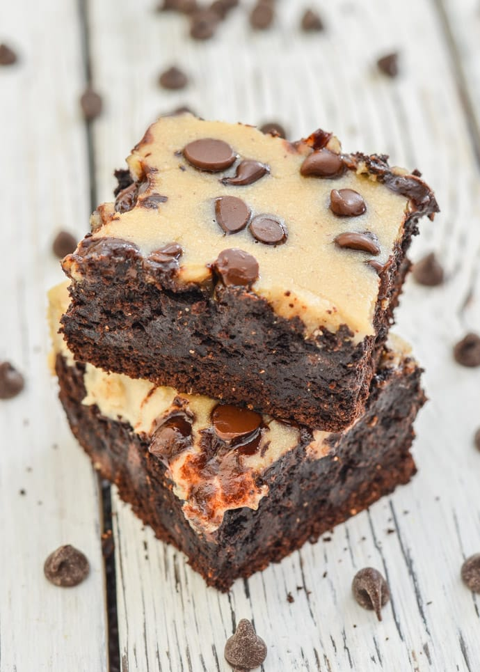 Cheesecake Topped Fudgy Brownies - A Virtual Vegan