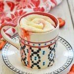 Strawberry Sweet Roll Vegan Mug Cake