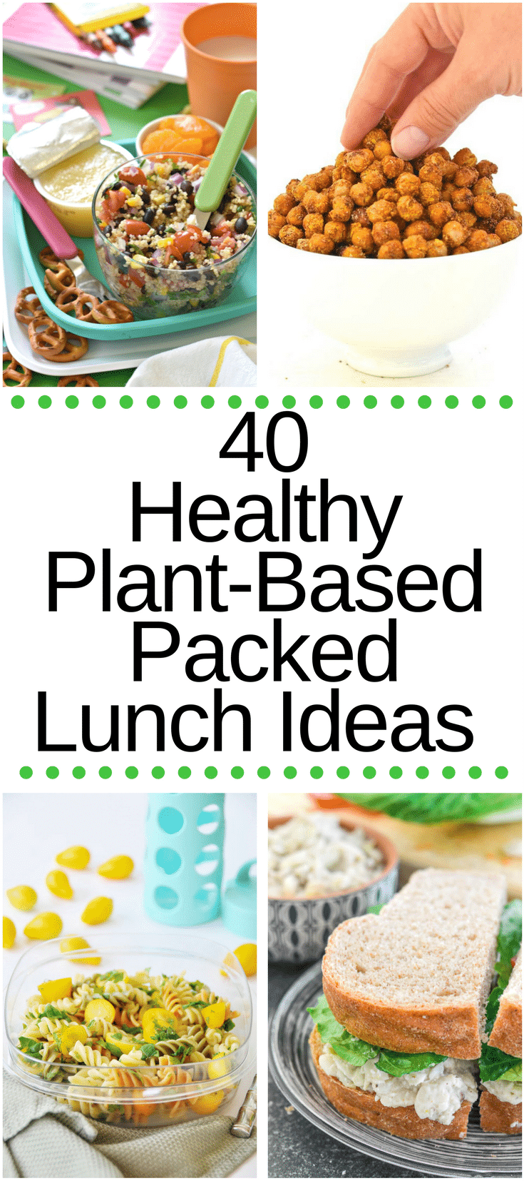 Keeping packed lunches interesting is no easy task but I've got you covered with this collection of 40 Healthy Plant-Based Packed Lunch ideas!
