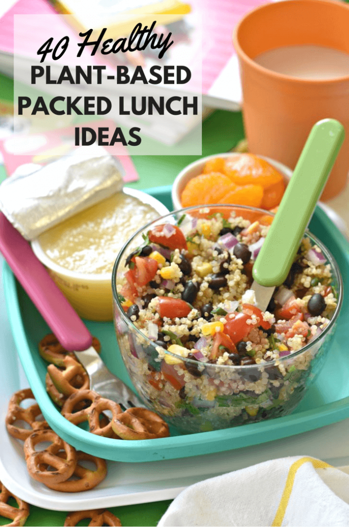 Keeping packed lunches interesting is no easy task and whether your kids are big or small, or even if you don't have kids and need some some help in the packed lunch department yourself, I've got you covered with this collection of 40 Healthy Plant-Based Packed Lunch Ideas!