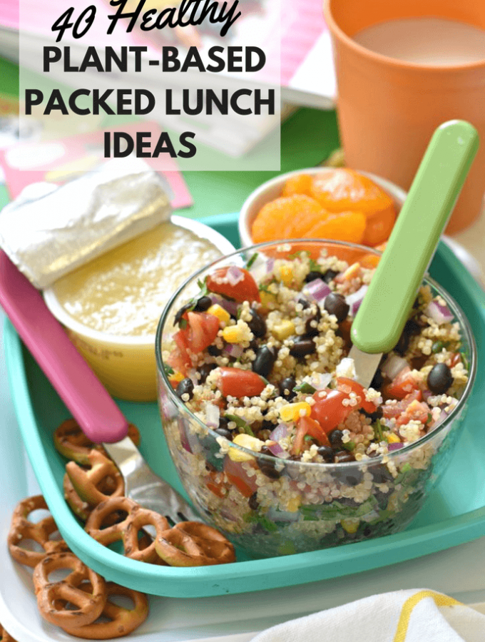 Keeping packed lunches interesting is no easy task and whether your kids are big or small, or even if you don't have kids and need some some help in the packed lunch department yourself, I've got you covered with this collection of 40 Healthy Plant-Based Packed Lunches!
