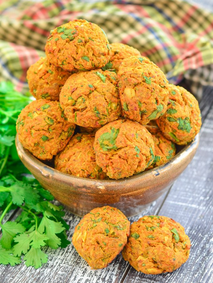 Curried Carrot Baked Falafel