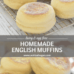 Homemade English Muffins. Nothing can beat them straight off the griddle or gently toasted. They are soft, slightly chewy & perfect for breakfast or snacks. No oven is required & they are so much nicer than store bought!