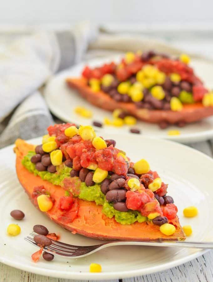 Sweet Potato Breakfast Boats