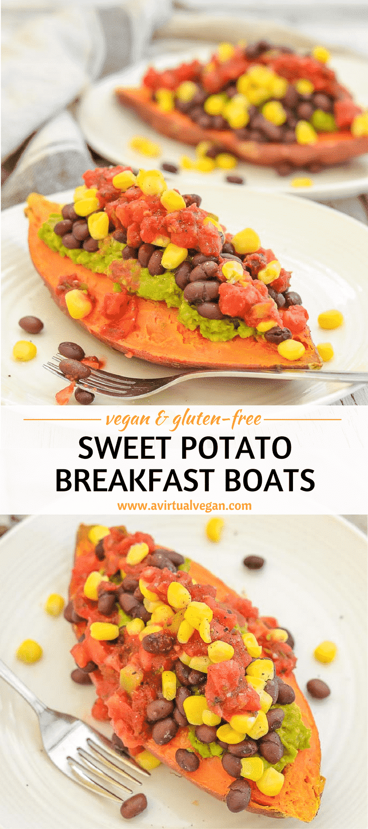 Breakfast just got reinvented with these sweet, comforting & super nutritious Sweet Potato Breakfast Boats. They are crazy yummy & surprisingly quick to prepare! They are also oil-free and gluten-free.