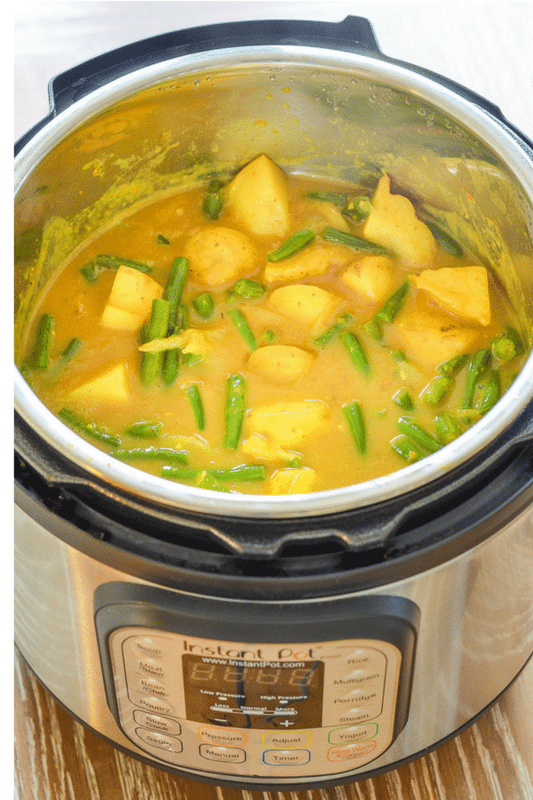 Vegan Instant Pot Potato Curry!  Super quick, easy, nutritious & delicious, plus it's really budget friendly!