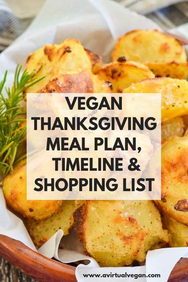 Vegan Thanksgiving Dinner Menu & Shopping List