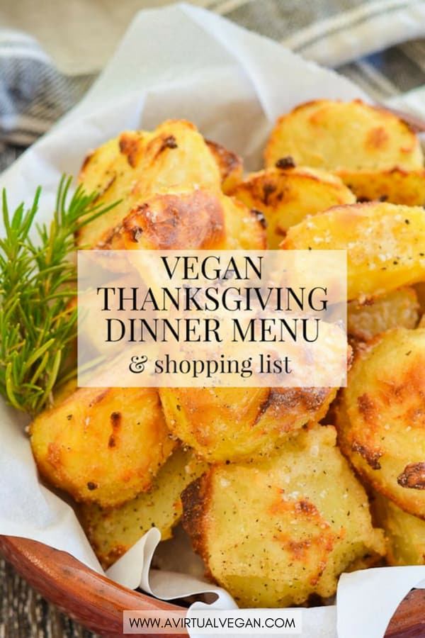 Use my Vegan Thanksgiving Dinner Menu (Meal Plan), Shopping List and Time-line for an easy, stress-free Thanksgiving. Just print it out, shop & follow it step by step. #vegan #thanksgiving #vegetarian #veganmealplan #mealplan