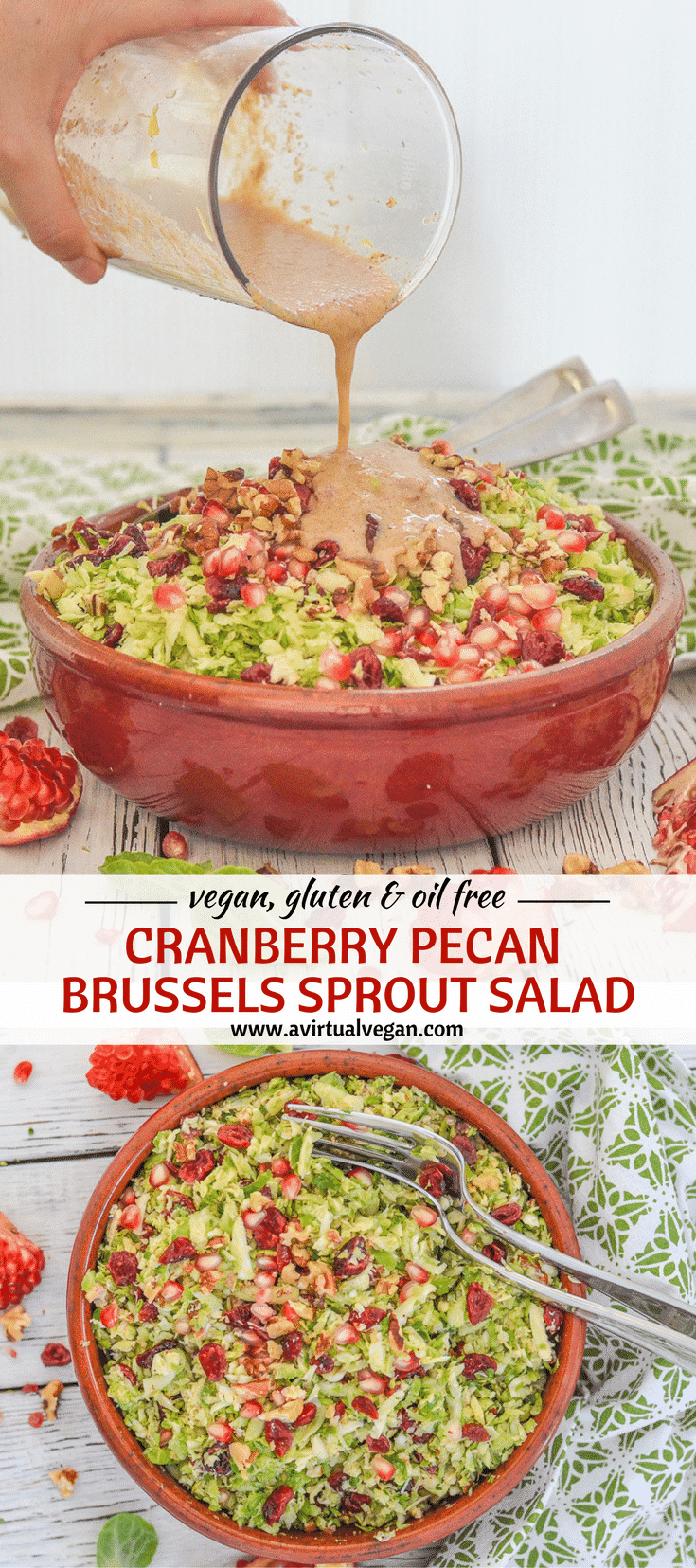 This citrus and cinnamon infused Cranberry Pecan Brussels Sprout Salad is fresh & absolutely packed with flavour & interesting textures. It's also hearty & warming thanks to the orange & cinnamon vinaigrette. Perfect for all of your fall & winter entertaining!