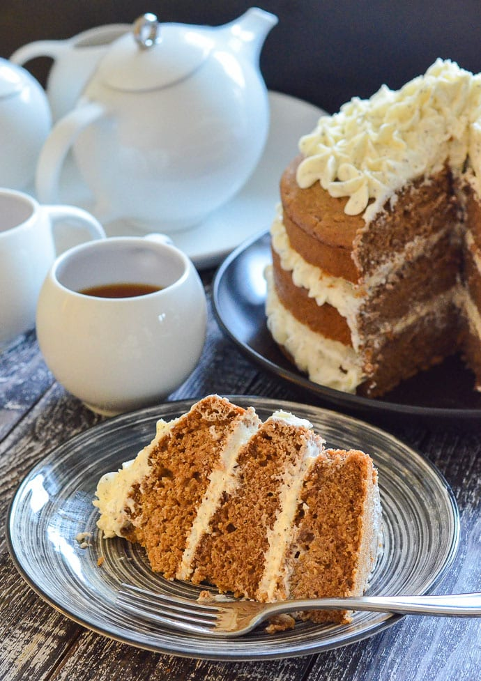 Earl Grey Vegan Cake sliced