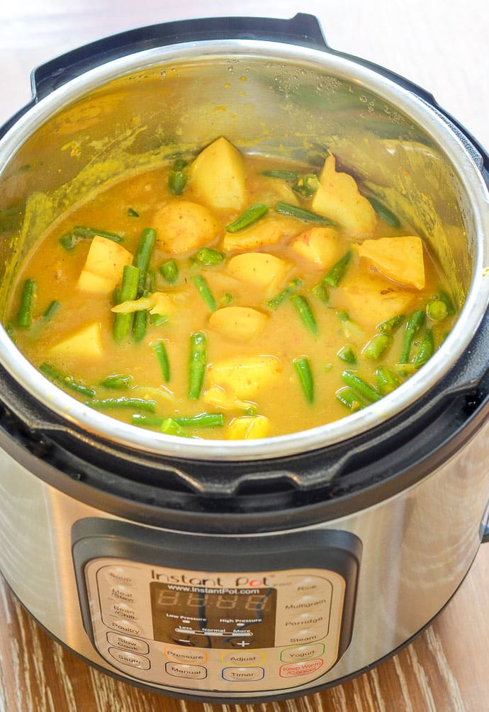 Vegan Instant Pot Potato Curry in the Instant Pot - A Virtual Vegan