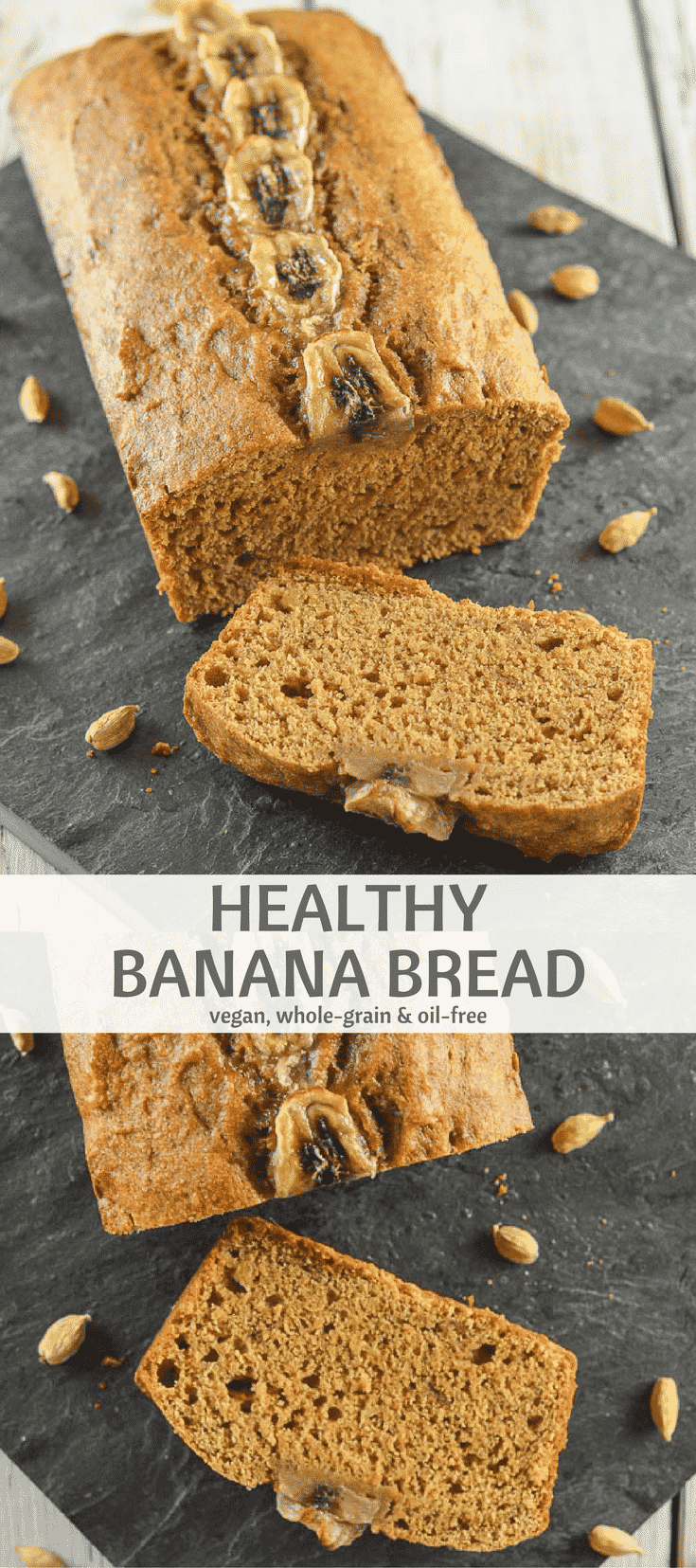 Healthy Banana Bread Whole Grain Oil Free A Virtual Vegan