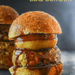Big, flavour loaded Vegan BBQ Burgers slathered in BBQ sauce. These black bean burgers are stuffed full of healthy ingredients & are oil & gluten-free. Grab a napkin because it's going to get messy!