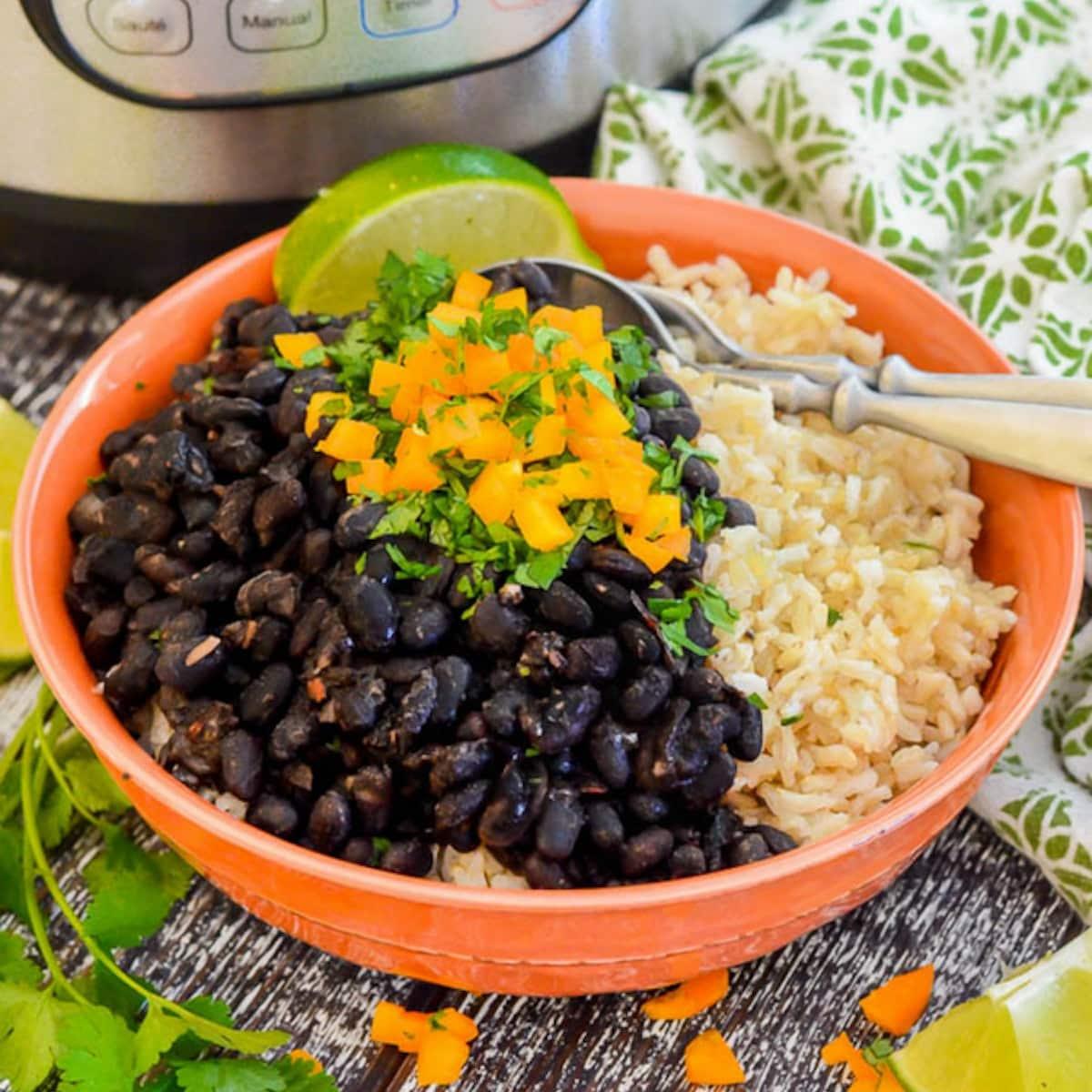 a bowl of Instant Pot Black Beans