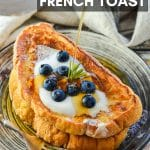 Ok, your brunch dreams are about to come true with THE best Vegan French Toast ever! It's soft, sweet, vanilla scented, golden perfection & all you need to make it are a few simple ingredients & 15 minutes.