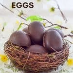 Easy Vegan Caramel Eggs with magical, refined sugar free insides.  Yes, it's caramel, yes it's yummy, but it's actually made from dates! So if you are watching your refined sugar intake you can  have your cake egg and eat it....