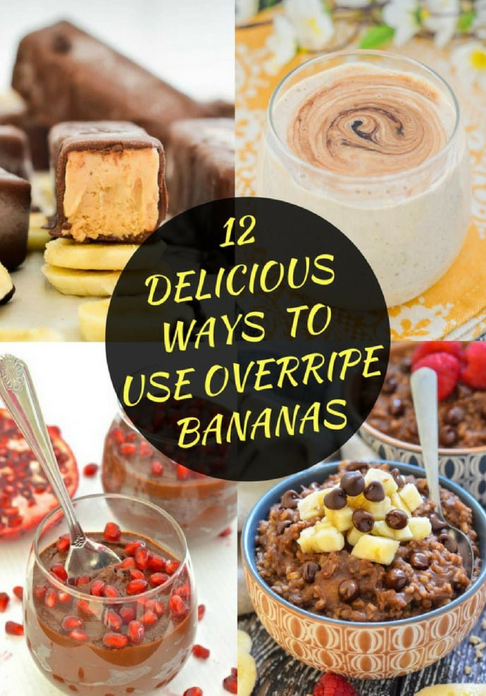 If you have overripe bananas languishing in your fruit bowl then this is the resource for you! All of these recipes are from A Virtual Vegan and there's everything from the obvious banana bread, to chocolate pudding and there are even some treats for your dog! #banana #bananas #overripebananas #vegan #vegetarian #recipecollection #reciperoundup