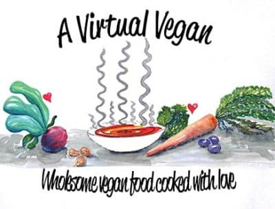A Virtual Vegan logo