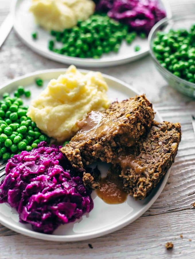 Vegan Meatloaf with Thick, Rich Gravy