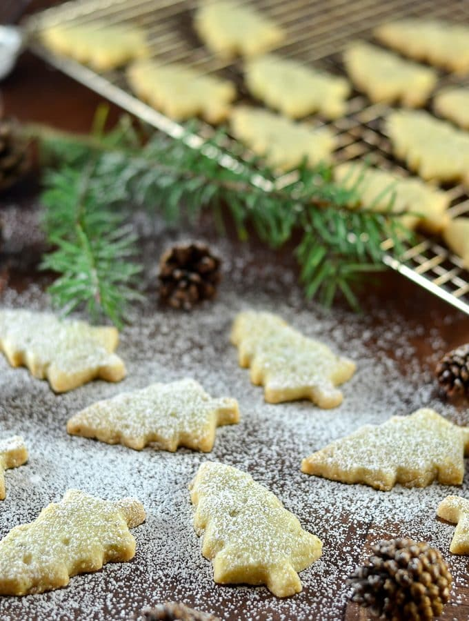 Pine Needle Shortbread Cookies