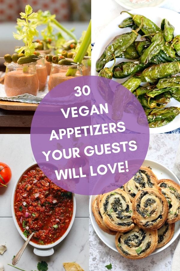 30 Vegan Appetizers Your Guests Will Love. All perfect for the upcoming holiday season, or for keeping your guest's hunger pangs at bay while you finish up the cooking at your dinner parties. #veganappetizers #vegan