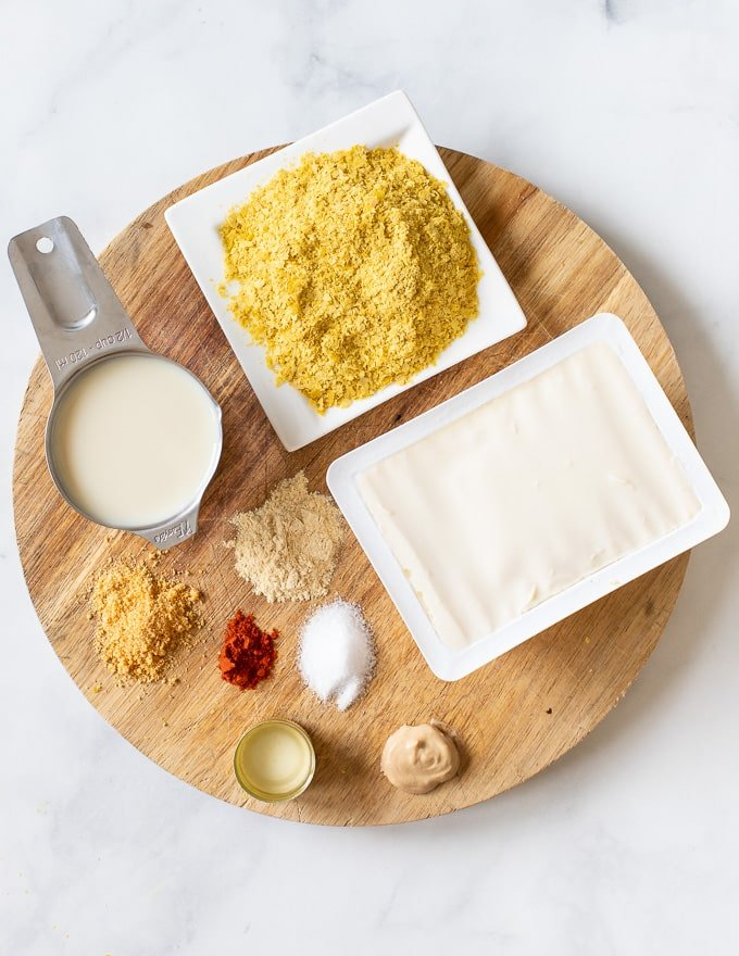 Ingredients for vegan cheese sauce