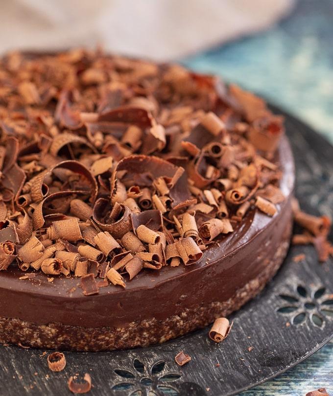 Vegan Gluten Free Chocolate Espresso Cake