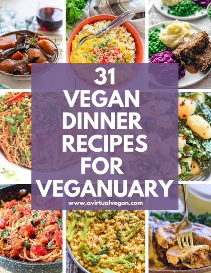 Make Veganuary easy with this collection of 31 super tasty vegan dinner recipes. One for every single day of the month!