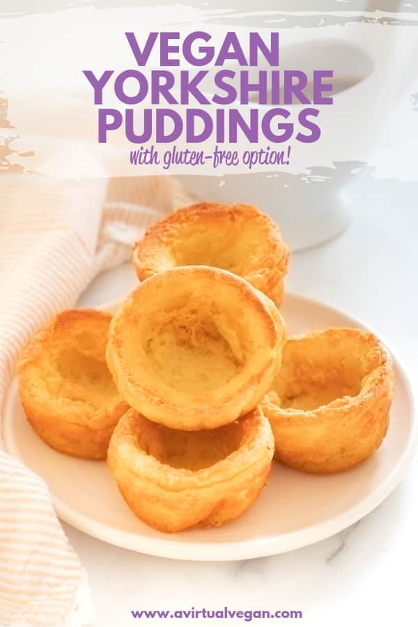Perfect Vegan Yorkshire Puddings - Tall, crispy, golden sides, soft and slightly gooey bottoms, and a deep hollow just waiting to be filled with tasty gravy! And there's a gluten-free option!