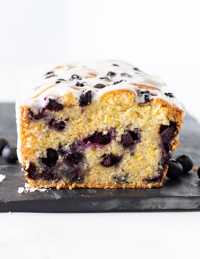 Lemon Blueberry Loaf inside shot
