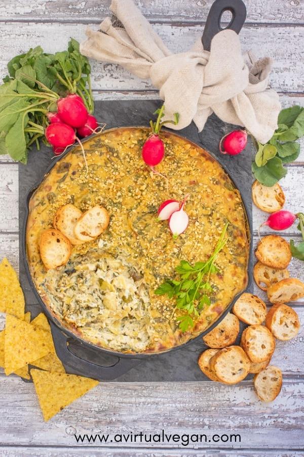 Spinach & Artichoke Dip from Vegan Comfort Cooking by Melanie McDonald
