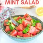 A really simple, flavourful & super juicy, Watermelon Mint Salad that will keep you feeling cool as a cucumber during the warmer summer months!