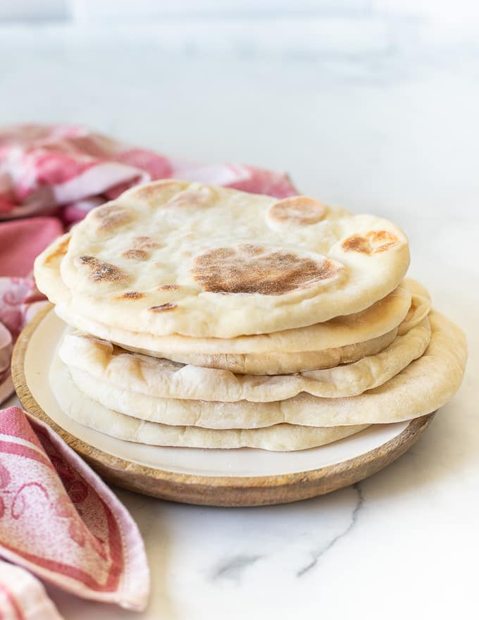 a pile of soft and fluffy flatbreads