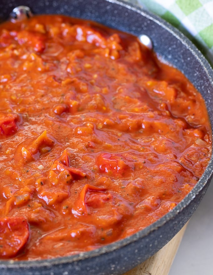 Cherry Tomato Sauce in a pan