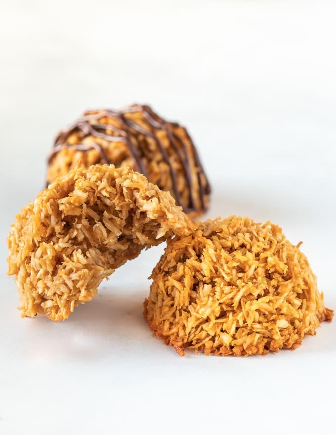 a pile of vegan coconut macaroons